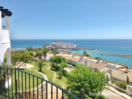 Peñiscola, duplex penthouse with terraces with sea views for sale
